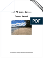 9693 Marine Science as Teacher Support