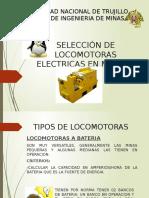 Selección de Locomotoras Electricas en Mineria