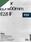 Nikkor ED 400mm F-2.8 If