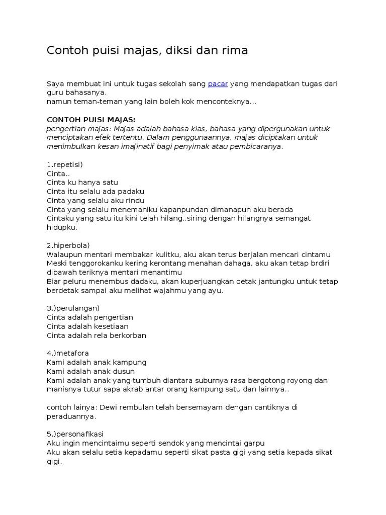 Contoh Puisi Cinta Tanah Air 2 Bait Brad Erva Doce Info