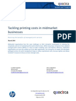 Tackling printing costs in midmarket businesses