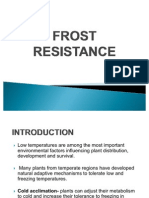 Frost resistance