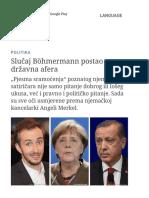 Slučaj Böhmermann Postao Državna Afera _ Politika _ DW.com _ 13.04.2016