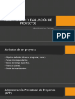 Adminitración y Evaluación de Proyectos