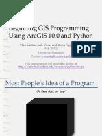 UNEX GIS WSAnalysis AdvArc10 Python