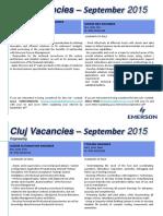 Vacancies 11 Sep 2015