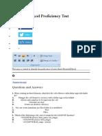 Microsoft Excel Proficiency Test