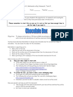 Maths Yr 8 Key Homework Term5 Chocolate Box