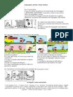 Atividade Para Trabalhar Linguagem Verbal e Não Verbal