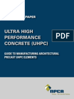 NPCA Ultra High Performance Concrete