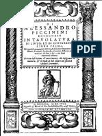 Piccinini-Intavolatura Di Liuto Et Di Chitarrone Libro Primo