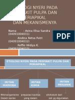 Etiologi Nyeri Pada Penyakit Pulpa Dan Periapikal