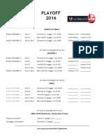 Calendario Playoff e BetOnMe