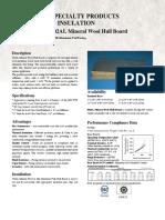 002AL Mineral Wool Datasheet