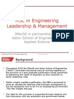MSc in Engineering Leadership & Management v1