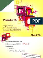 TA(1) ProsedurTA
