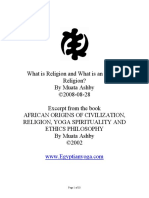 What is Religion and What is an African Religion