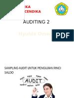 Auditing 2 SAMPLING AUDIT UNTUK PENGUJIAN RINCI SALDO