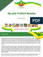 Del Monte Pacific 4 Quarter 2015 Presentation Final