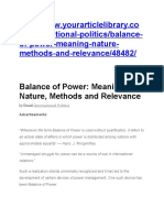 Balance of Power IR