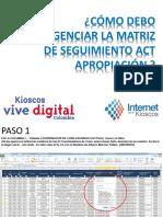 Ipk Instrucción Matriz