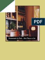 Restaurants in Paris – Best Places to Eat
