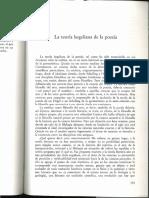 Teoría Hegeliana de La Poesía (Szondi)