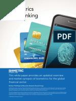 Biometrics and Banking 2016