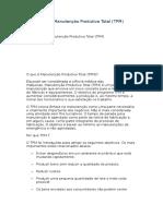 Introdução à Manutenção Produtiva Total