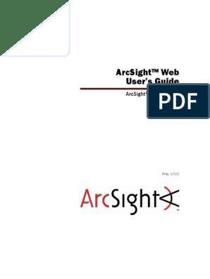 ESM_ArcSightWeb_UserGuide | Surveillance | World Wide Web