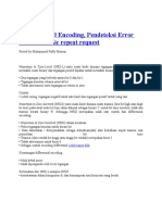 Teknik Sinyal Encoding, Deteksi Error Dan Automatic Repeat Requet