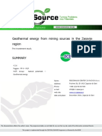ReSource Geothermal Energy From Mining Sources Zasavje