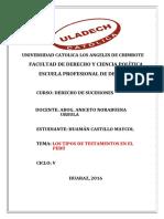 Los Tipos de Testamentos en El Perú