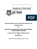 4.29 Masters in Human Resources Development Management (MHRDM)