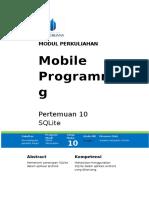 Modul Mobile Programming sqllite