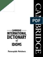 English Idioms Work Sheets