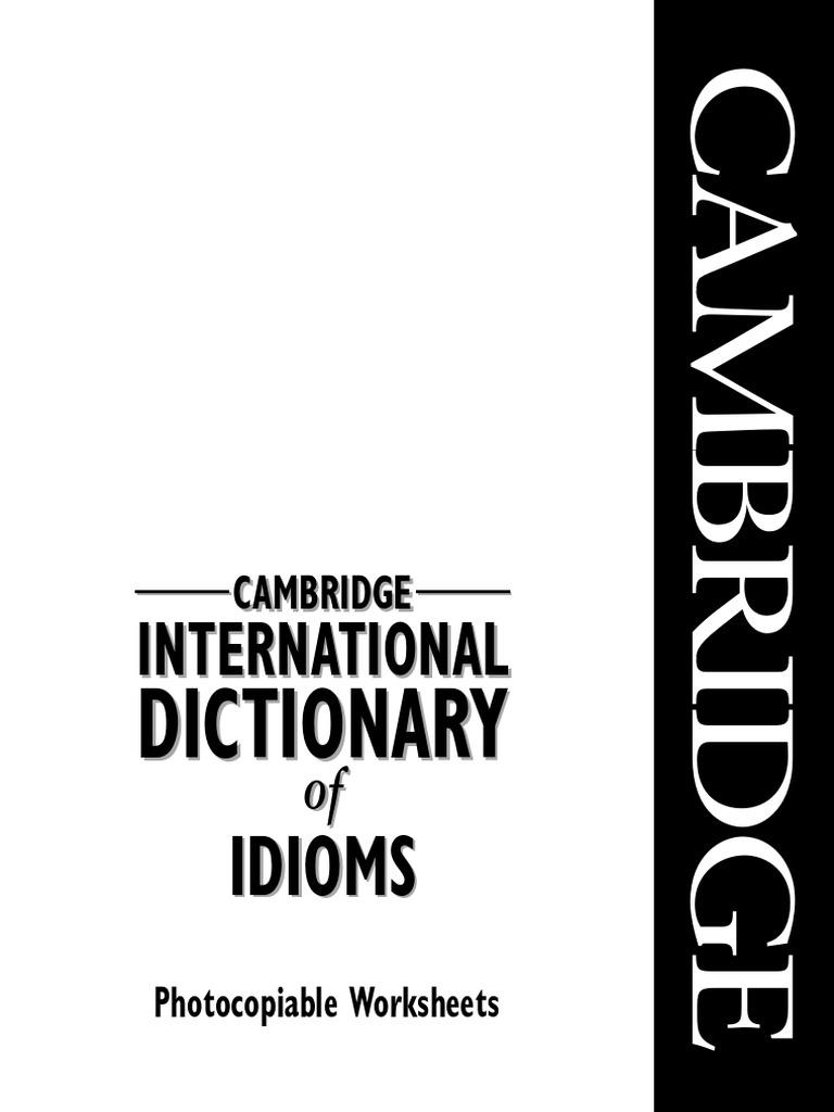 english idioms work sheets idiom adjective. Black Bedroom Furniture Sets. Home Design Ideas