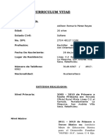 Curriculum Vitae Adilson Romario Perez Reyes, Dg 2016