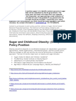 Sugar and Childhood Obesity Strategy Master