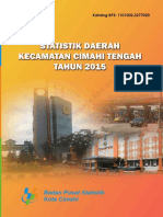 Statistik Daerah Kecamatan Cimahi Tengah 2015