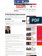 Sir Paul McCartney- Exclusive Interview - Liverpool Echo