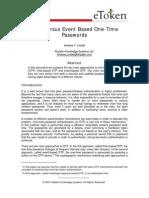 Time vs Event Based OTP