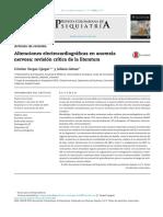 Alteraciones Electrocardiográficas en Anorexia Nerviosa