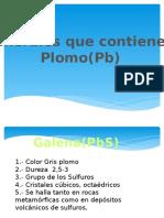 Minerales de Pb y Sn