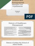 Healthcare Management Presentation