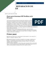Ayuda en Reparacion de Portatiles_ Pasos Para Desarmar Hp Pavilion Serie Dv2000