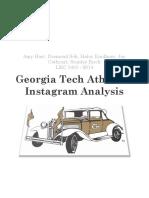 georgia tech athletics instagram analysis proposal