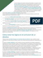 Curriculum Directivo