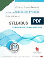 cirs-exam-syllabus