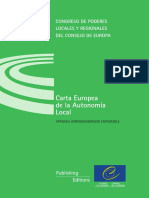 Carta Europea de La Autonomia Local